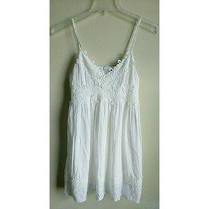 Topshop White Floral Spaghetti Strap Dress